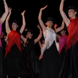 Allievi di flamenco al saggio